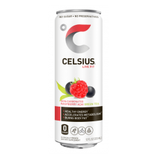 Celsius Fitness Drinks Raspberry Acai Green