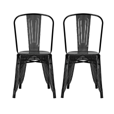 DHP Nova Mesh Dining Chairs BlackSilver