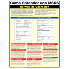 ComplyRight Understanding A MSDS Poster Spanish
