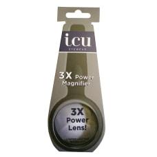 ICU Eyewear Mini Handheld Magnifier Black