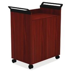 Lorell Mobile Storage Cabinet Mahogany