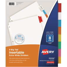 Avery Big Tab Extra Wide Insertable