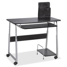 Lorell Mobile Computer Desk BlackSilver