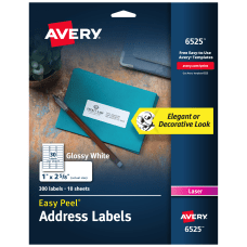Avery Glossy Permanent Labels 6525 Mailing
