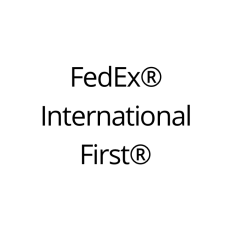 FedEx International First Shipping