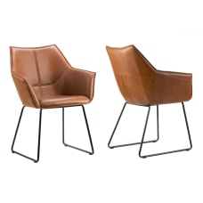 Glamour Home Amna Dining Chairs Cappuccino
