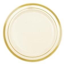 Amscan Trimmed Premium Plastic Plates 6
