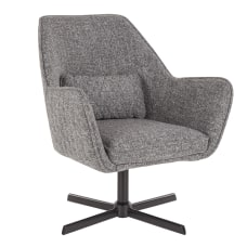 LumiSource Diana Contemporary Lounge Chair Gray