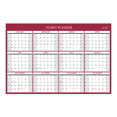 Blue Sky Jumbo Laminated Monthly Wall