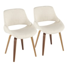 LumiSource Fabrico Dining Chairs WalnutCream Noise