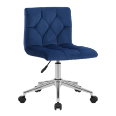 Glamour Home Amali Office Chair Blue