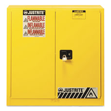 Yellow Safety Cabinets for Flammables Manual