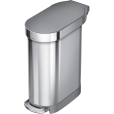 simplehuman Slim Stainless Steel Step Trash