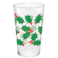Amscan Christmas Holly Plastic Tumblers 16