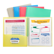 C Line 8 Pocket Spiral Bound