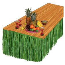 Amscan Summer Luau Grass Table Skirt