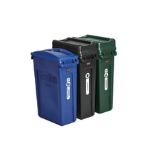 Rubbermaid Slim Jim Rectangular Plastic Wastebasket