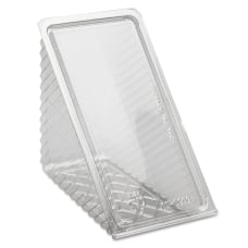 Pactiv Hinged Lid Sandwich Wedges Clear
