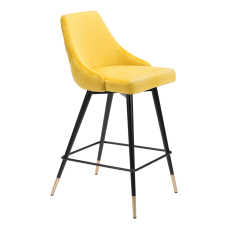 Zuo Modern Piccolo Counter Chair YellowBlack