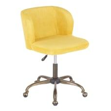 LumiSource Fran Corduroy Task Chair AntiqueYellow