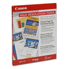 Canon Inkjet Print High Resolution Paper