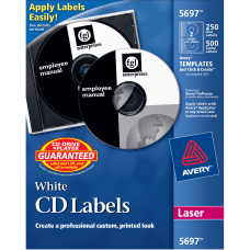 Avery CD Labels AVE5697 Removable Adhesive