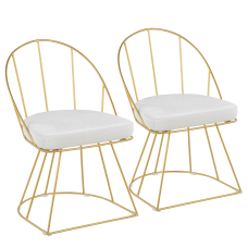 LumiSource Canary Dining Chairs GoldWhite Set