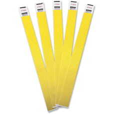Advantus Tyvek Wristbands AVT75444 Yellow Tyvek
