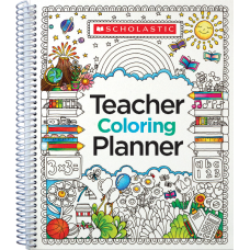 Scholastic Teacher Coloring Planner 9 x