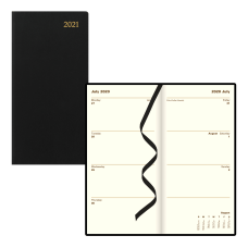 Letts Signature Slim Leather Weekly Planner