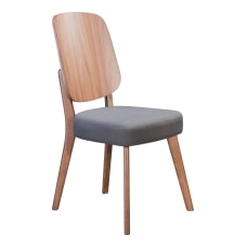 Zuo Modern Alberta Dining Chairs Dark