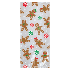 Amscan Gingerbread Christmas Treat Bags 9