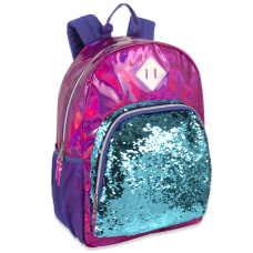 Trailmaker Sequin Hologram Backpack Pink