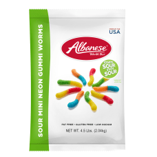 Albanese Confectionery Gummies Sour Gummy Worms