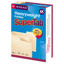 Smead SuperTab Heavyweight File Folders Legal