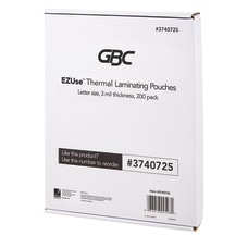 GBC EZUse Thermal Laminating Pouches 3
