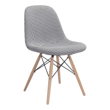 Zuo Modern Sappy Dining Chair HoundstoothNatural