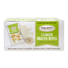 Dolcetto Petites Lemon Wafer Bites 07