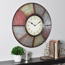 FirsTime Patchwork Round Wall Clock 20