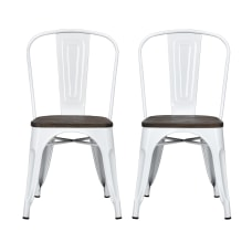 DHP Fusion Dining Chairs BrownWhite Set