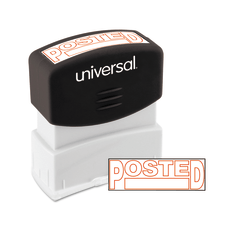 Universal Pre Inked Message Stamp Posted