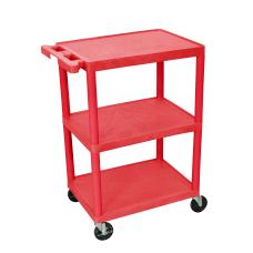 Luxor Plastic Utilty Cart 3 Shelves
