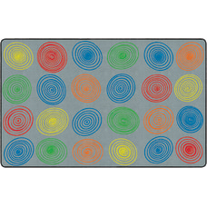 Flagship Carpets Circles Rug Rectangle 7