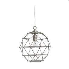 Elegant Designs 1 Light Hexagon Pendant
