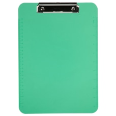 JAM Paper Plastic Clipboards with Metal