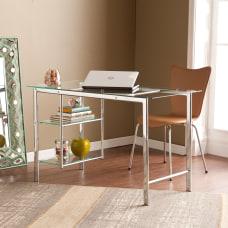 Southern Enterprises Oslo Chrome Glass Desk