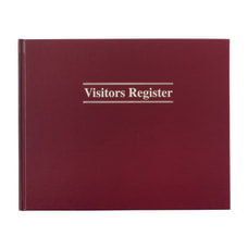 Adams Visitor Registration Book 8 12