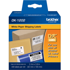Brother DK 1202 White Die Cut