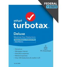 TurboTax Desktop Deluxe 2020 Federal Efile