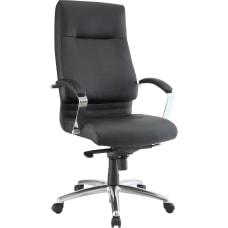 Lorell Modern Executive Ergonomic Bonded Leather